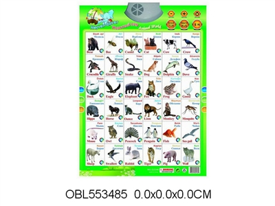 OBL553485   Turkish Animal Sound Chart Without Electricity